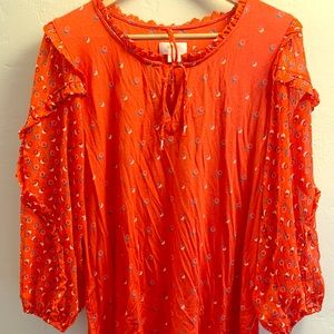 Maeve Jacquin top, red, gently worn